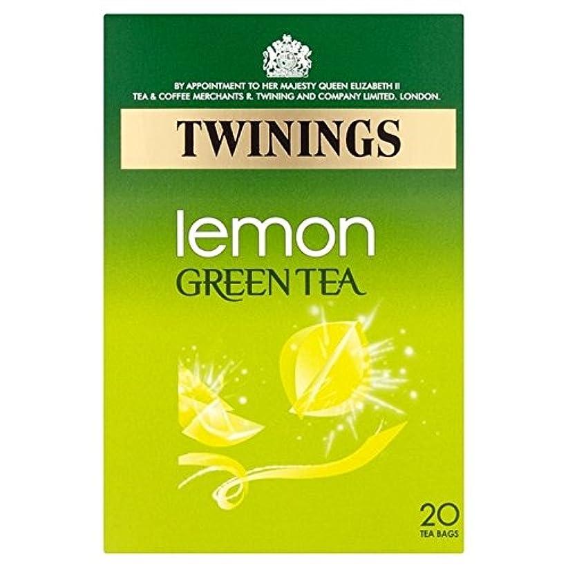 険しい病的直接トワイニングレモンパックあたりの緑茶20 (x 4) - Twinings Lemon Green Tea 20 per pack (Pack of 4) [並行輸入品]