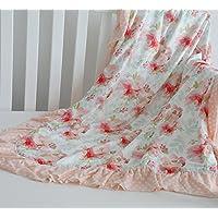 sahalerフローラルMinky毛布ベビーガールズ用フリル付きドットブランケットInfants幼児Girl 's Soft Throw快適、完璧なギフト 32x32