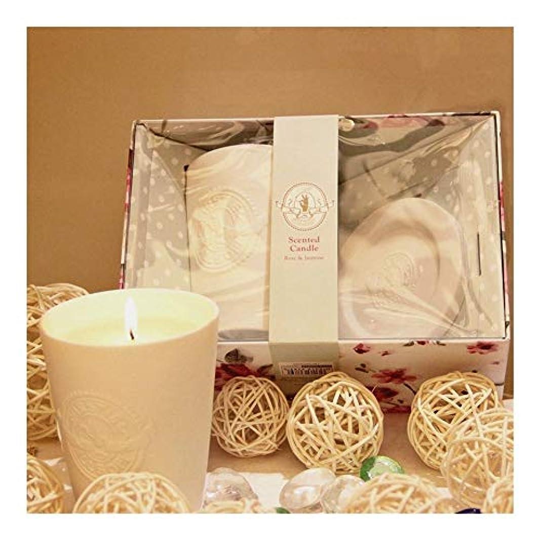 下手適用済み吸収するGuomao 白い陶器のガラス、ワックス、香料入りの蝋燭、屋内臭気の蝋燭