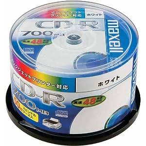 maxell データ用 CD-R 700MB 48倍速対応 インクジェットプリンタ対応ホワイト50枚 スピンドルケース入 CDR700S.ST.PW50SP