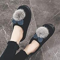 [WOOYOO] ルームシューズ 厚底スリッパ レディース 可愛い 裏起毛 ふわふわ もこもこ 防寒 キラキラ 室外室内 滑り止め 厚底靴 おしゃれ 裏ボア 綿靴 来客用 北欧 お出かけ 女性用 裏ファー 保温スリッパ