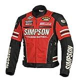 シンプソン(SIMPSON) バイク用ジャケット Mesh Jacket(メッシュジャケット) レッド M SJ-8115
