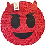 Red Emoticon Pinata 41cm