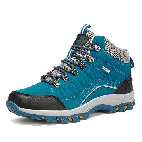 [テノシ] トレッキングシューズ メンズ レディース ハイキングシューズ - ハイカット 登山靴 アウトドア キャンプシューズ 耐磨耗 防水 防滑 透湿 軽量 男女兼用 22.5-28cm対応