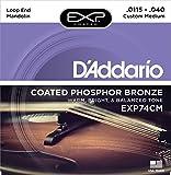D'Addario ダダリオ マンドリン弦 EXPコーティング フォスファーブロンズ Custom Medium .0115-.040 EXP74CM 【国内正規品】