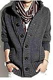 【Y's factory】 メンズ スタンドカラー 立ち襟 ニット カーディガン