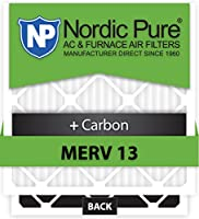 Nordic Pure 10x14x1CustomM13+C-12 MERV 13 + カーボン AC 炉フィルター 12個