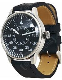 Mil-Tec Vintage Style WW2 Pilot Watch with Black Leather Strap [並行輸入品]