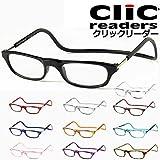 クリックリーダー 老眼鏡 (ブラック,アクリルレンズ+2.50)