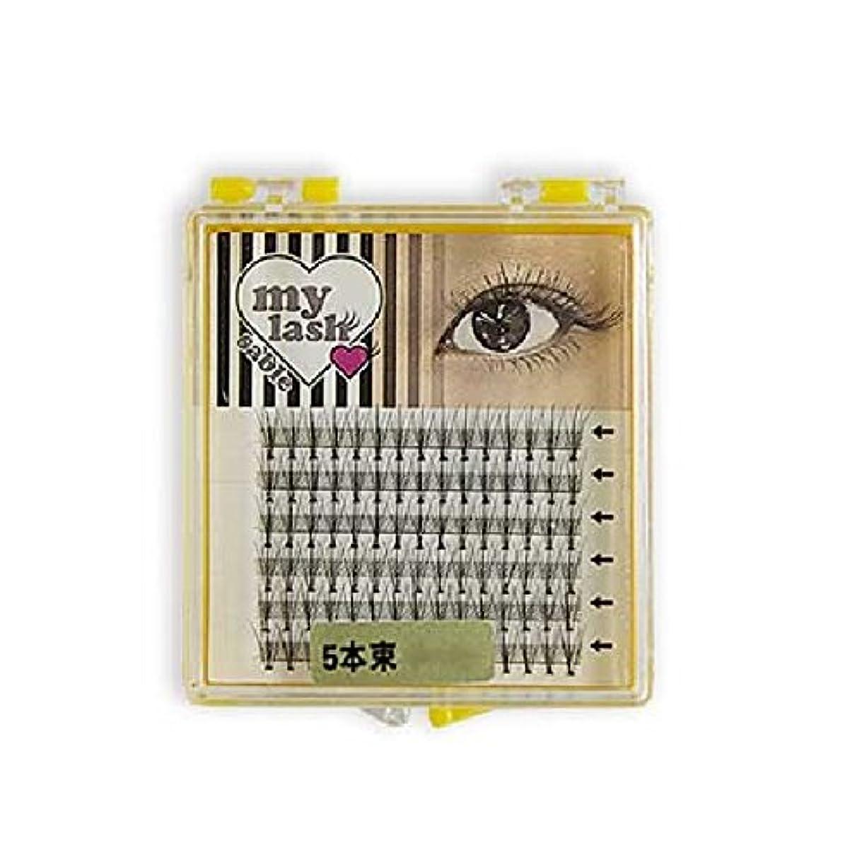 反映する快適ワンダーまつげエクステ my lash 束エクステ 60束入 (5本束 10mm)