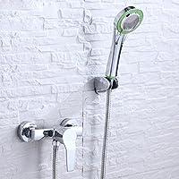 全銅シャワー水蛇口浴室冷熱蛇口暗装簡易花こぼれセット