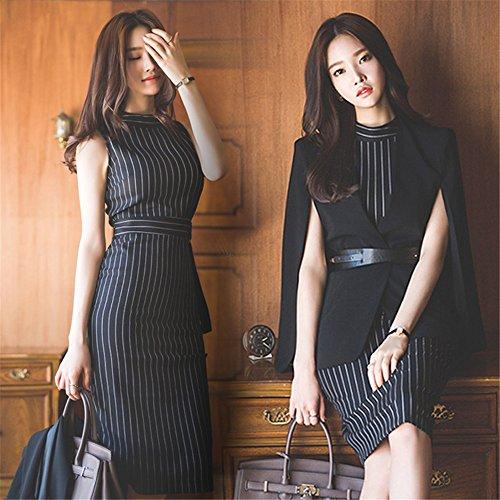 [해외]여성 정장 세트 정장 스커트 정장 사무실 하복 취업 소매없는 사무 복장 세련된 캐 정장 WU0214/Women`s suits suits skirts suit office summer clothes hunting sleeveless office work clothes stylish caba suit WU 0214