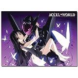 アクセル・ワールド ブラック・ロータス&黒雪姫 タペストリー 約80x110cm 布製ポスター ...