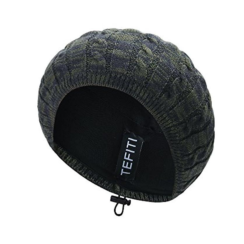 ほかに遡るおんどりレディース帽子、cococap調整可能ニットビーニーベレー帽レディースガールズ軽量ヘアネットスヌード帽子