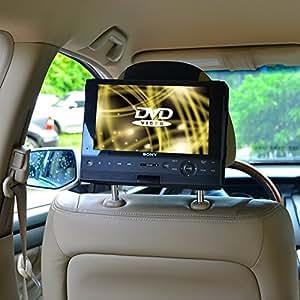 TFY スイベル&フリップDVDプレーヤー9インチ車載用カーヘッドレストマウント ベルト
