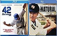 The Natural Robert Redford & 42 The Jackie Robinson Story Baseball Double Feature Blu Ray Movie Bundle