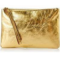 Oroton Women's Escape Medium Zip Pouch, Gold, One Size