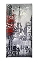 JP1295XZS パリのエッフェル絵画 Eiffel Painting of Paris Sony Xperia XZs ケース