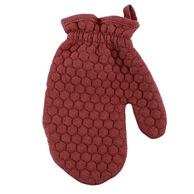 ライム特派員洗練Lehao ボディ手袋 ボディミトン 両面あかすり 垢すり手袋 弾性カフ ボディブラシ 浴用手袋 ボディタオル 男女兼用 入浴用品