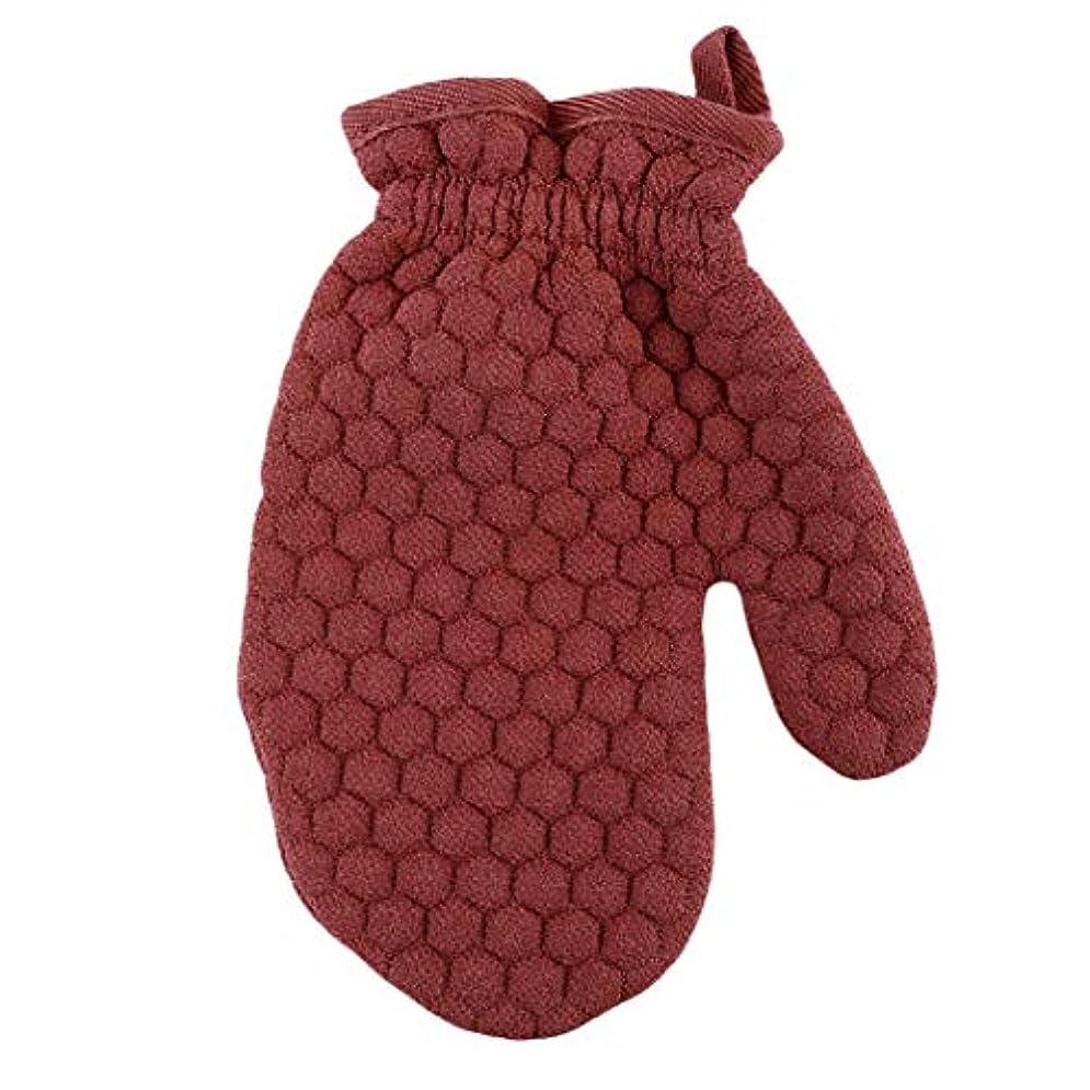 トレイ通り悲観的Lehao ボディ手袋 ボディミトン 両面あかすり 垢すり手袋 弾性カフ ボディブラシ 浴用手袋 ボディタオル 男女兼用 入浴用品