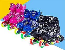スケート セット インラインスケート ローラースケート 発光 全ウィールが光る メッシュ 通気性抜群 大人 キッズ 子供用 初心者向け ローラーシューズ