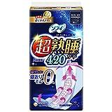 ソフィ 超熟睡ガード 420 10枚(くるっとテープつき)〔生理用ナプキン 夜用〕