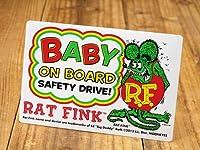 ラットフィンク ステッカー RatFink 赤ちゃん 乗ってます ベビーオンボード_SC-RDF044-MON