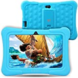 Dragon Touch Y88X Plus Kids Tablet 18cm Quad Core Android PC Tablet Android 5.1 Lollipop IPS Screen 1G RAM 8G ROM Wifi Bluetooth Camera Games Unlocked Version of Kidoz & Google Play Pre-Installed (With Blue Silicone Adjustable Stand Case)
