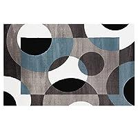リビングルームの敷物家の敷物寝室の敷物北欧のモダンなミニマリストのカーペット幾何学的なソファーのテーブルマット寝室でカーペットを敷くことができます床の敷物子供のカーペット (Color : GRAY, Size : 140CM*200CM)
