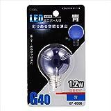 オーム電機 LEDミニボール球 E17 1.2W 青 LDG1B-H-E17 13 07-6506 4971275765061