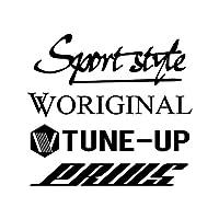 Sport style mix プリウス カッティング ステッカー ブラック 黒