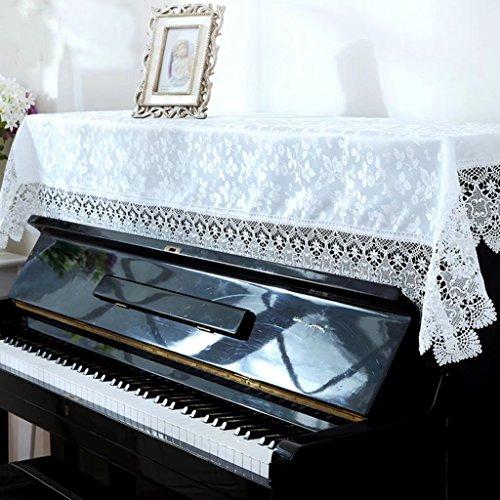 ピアノカバー 高級 ジャカード 花刺繍 ピアノトップカバー 花柄 ピアノ アップライトピアノ カバー ローズ高品質 トップカバー 防塵カバー 静電気防止 灰つけない