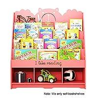 本棚漫画本棚単体本棚フロア学生書棚シンプルスペース書棚3-14歳の本棚を使用 (Color : Pink, Size : 100 * 32 * 112cm)