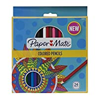 Paper Mate pre-sharpened木製色鉛筆、壊れにくい、アソートカラー、パックof 24