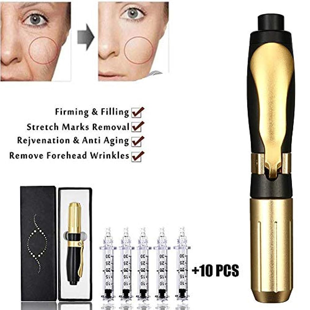 年齢ニンニクベスト0.3ml / 0.5mlヒアルロンペン、プロの美容アトマイザー非侵襲的ニードルフリーペン保湿マイクロインジェクタースキンケア、傷やしわ(10アンプルヘッド)を減らすのに役立ちます
