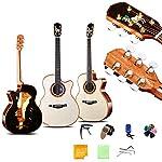 41インチフルサイズオールウッドアコースティックエレクトリックカッタウェイギター12星座シングルギター手作りローズウッドベニヤアコースティックギターで初心者セット