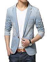(メイク トゥ ビー) Make 2 Be メンズ デニム テーラード ジャケット アイテム テラジャケ + 便利 アイテム 携帯 靴べら MA01