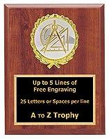 数学Plaque Awards 6x 8Wood Academic Trophiesトロフィー教育Free Engraving