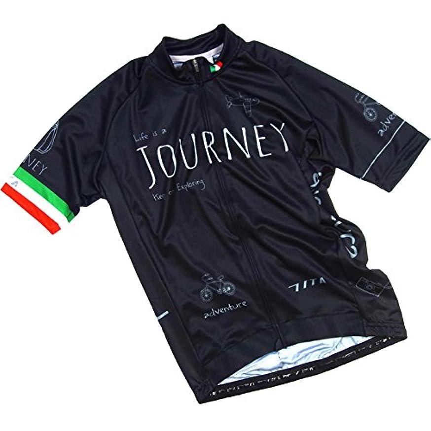 技術的なグループ大使セブンイタリア Journey Jersey ブラック L(78S-JNY-JY-BK-L)