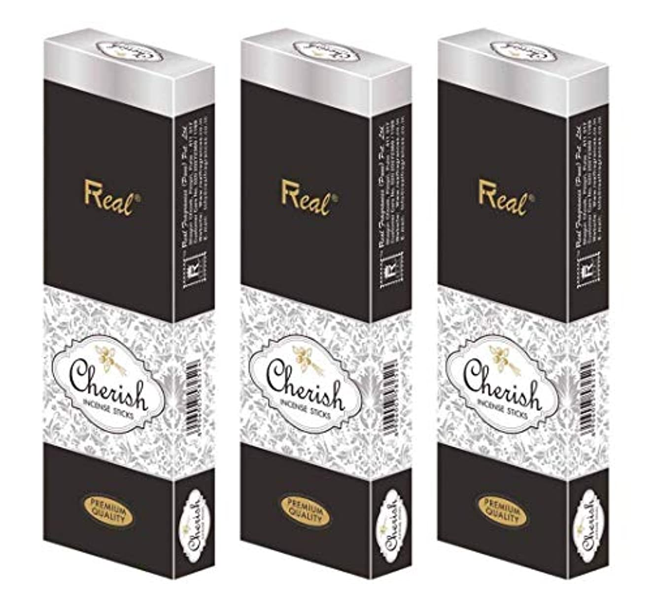 ヒゲクジラ傑出した赤REAL Cherish AGARBATTI Sticks Pack of 3 (100 GM Each)