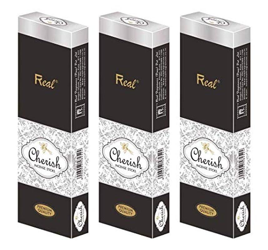 フィクション招待回答REAL Cherish AGARBATTI Sticks Pack of 3 (100 GM Each)