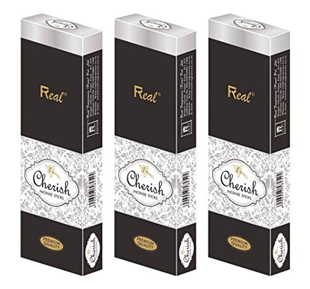クリック半島回復REAL Cherish AGARBATTI Sticks Pack of 3 (100 GM Each)