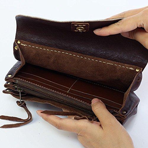 cham ( チャム )革 ( レザー ) ハラコ 長財布 財布 レディース メンズ / ブラウン PN-002BRN