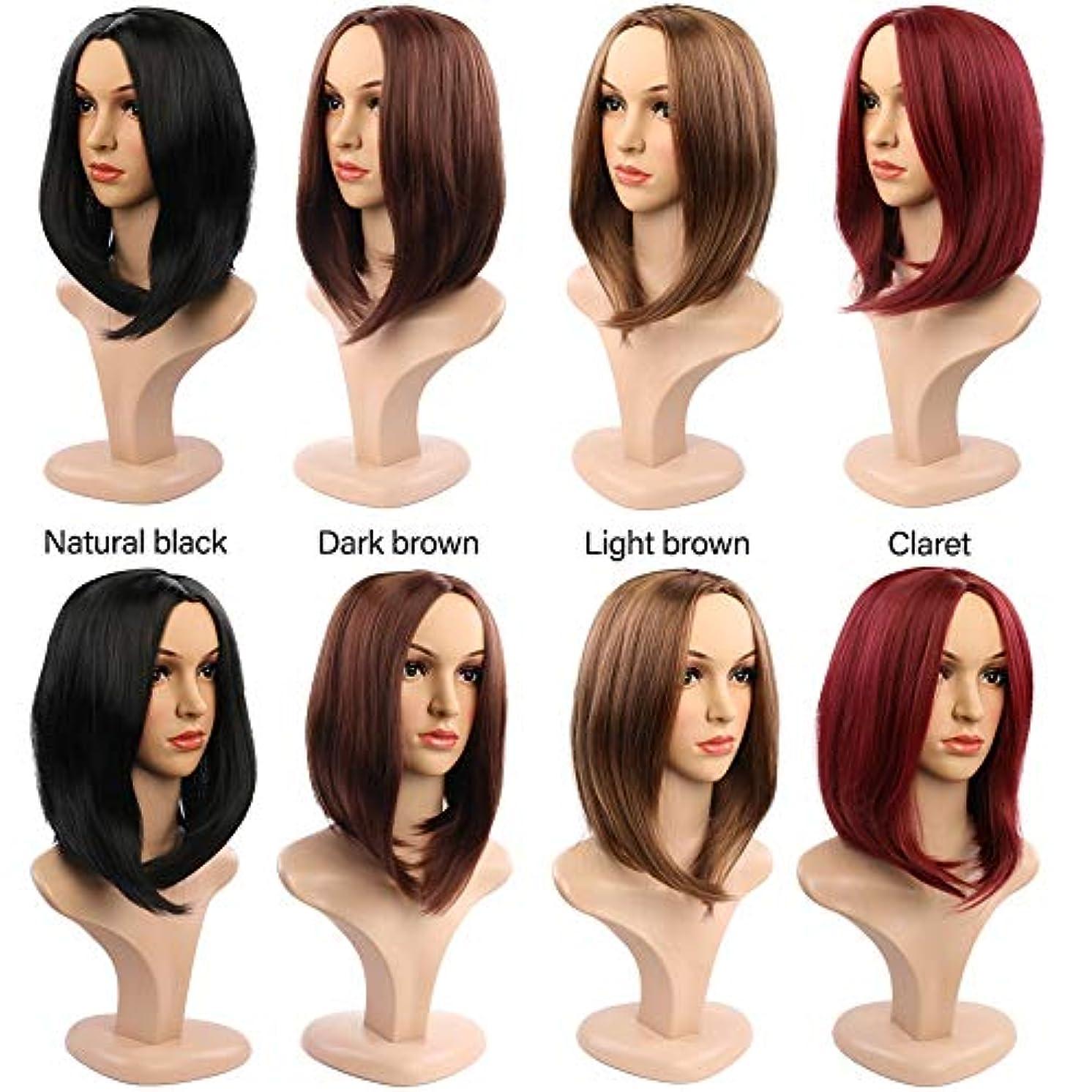 女性の短い巻き毛のかつら14