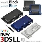 New Nintendo 3DS LL用 大容量内蔵バッテリーPro(メタリックブラック&メタリックブルー)【JTTオンライン限定商品】標準バッテリーの約3.5倍 驚異の6,250mAh!
