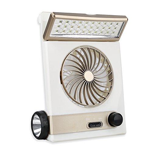 3in1 多機能ファン ソーラー扇風機 ミニ扇風機 ソーラーパネル 省エネ LEDライト付き 2段階調節輝度 懐中電灯機能 寝室/車/オフィス/旅行/アウトドア 充電器付き