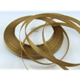 """Solid Color Satin Ribbon 1/4"""",25yds (Light Coffee)"""