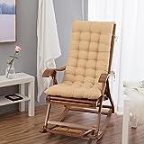 昼寝クッション折りたたみ椅子 両面 リクライニングチェア竹ベンチ クッション ロッキングチェア 普遍的なソファ席クッション 屋外木製長椅子 屋内屋外用クッション -F