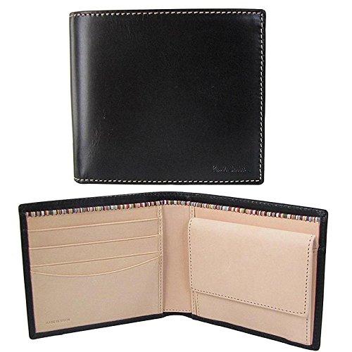 【Paul Smith】2015AW ポールスミス 財布 ANXA1033W742 B ブラック×ナチュラル 二つ折りウォレット メンズ