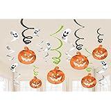 ハロウィンガーランド 12個入り(かぼちゃ6枚 おばけ6枚) 装飾 Halloween ジャックオランタン